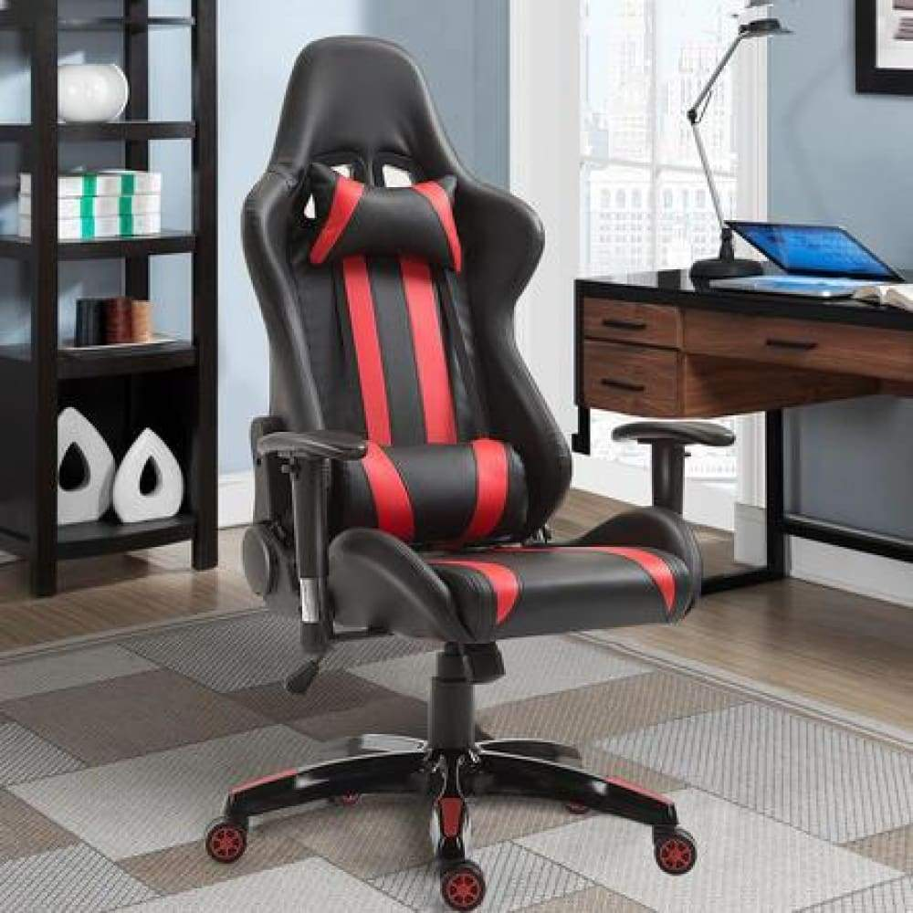 Gymax Executive Racing Style High Back Gaming Chair Reclining Office Computer