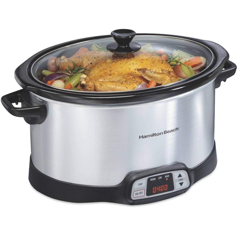 Hamilton Beach 8-Quart Programmable Countdown Slow Cooker | Model# 33480