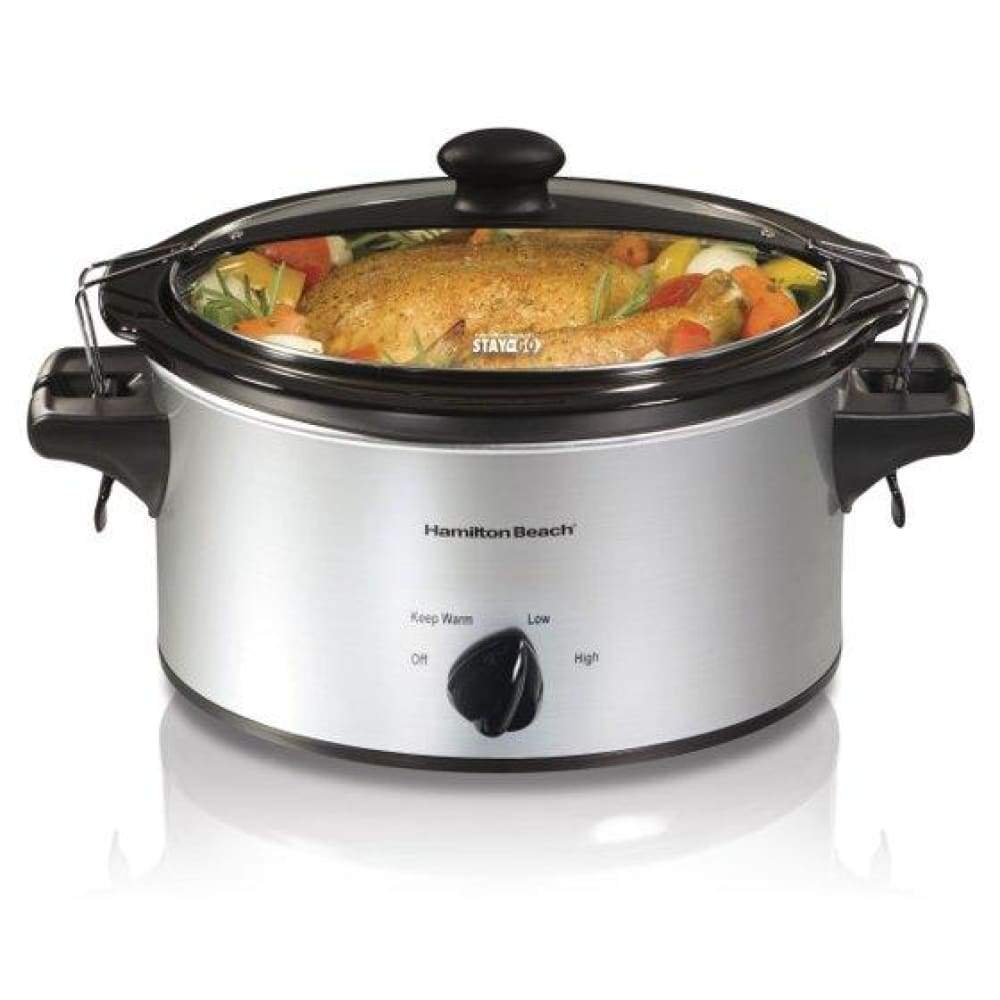 Hamilton Beach Stay or Go 4 Quart Slow Cooker | Model# 33249