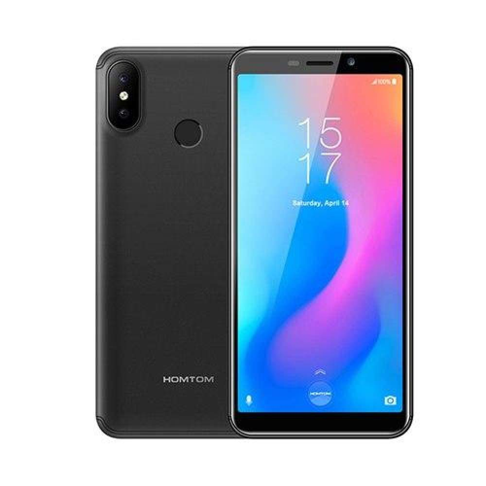 HOMTOM C2 5.5 Android 8.1 2GB+16GB ROM Fast Charge Mobile Phone Face ID MTK6739 Quad Core 13MP Dual Cams OTA 4G LTE Smartphone - Gray