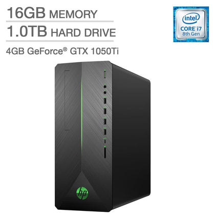 HP Pavilion Gaming Desktop - Intel Core i7 - GeForce GTX 1050 TiHP - Ti