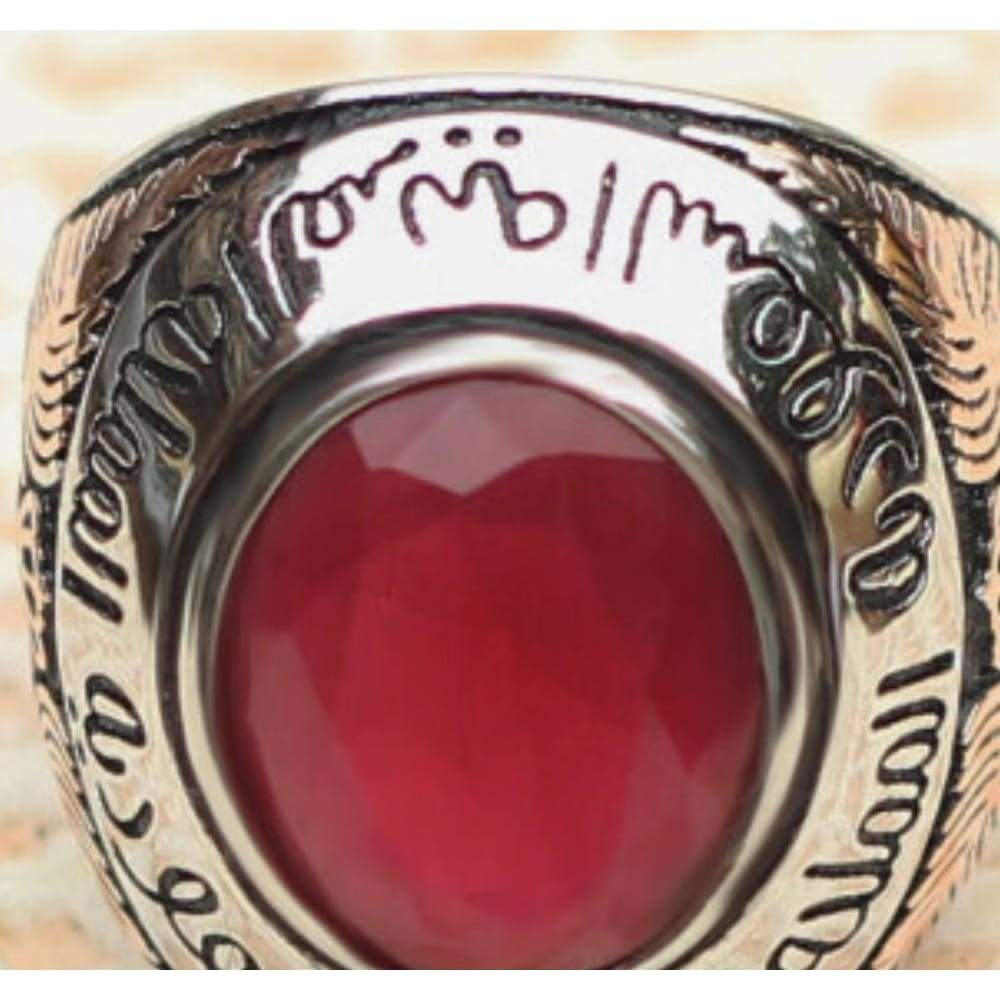 Jewelry Red Agate Stone Ring Designs for Men