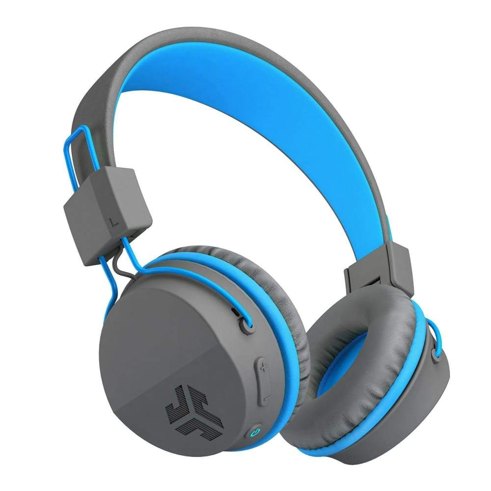 JLab Neon Bluetooth On-Ear Headphones with Universal Mic - Blue
