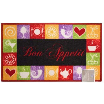 Kashi Home Bon Appetit Large Oversized Kitchen Rug 20 x 40 Rectangle