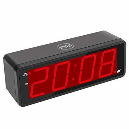 Kwanwa Digital Alarm Clock Large Display With 1.8 LED Numbers Battery Operated