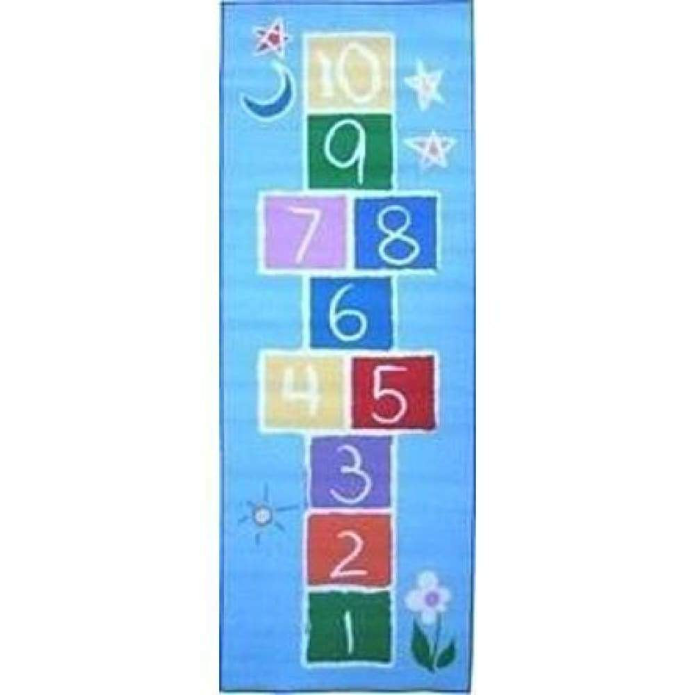 LA Rugs Fun Time Primary Hopscotch Size: 19 x 29 Area Rug