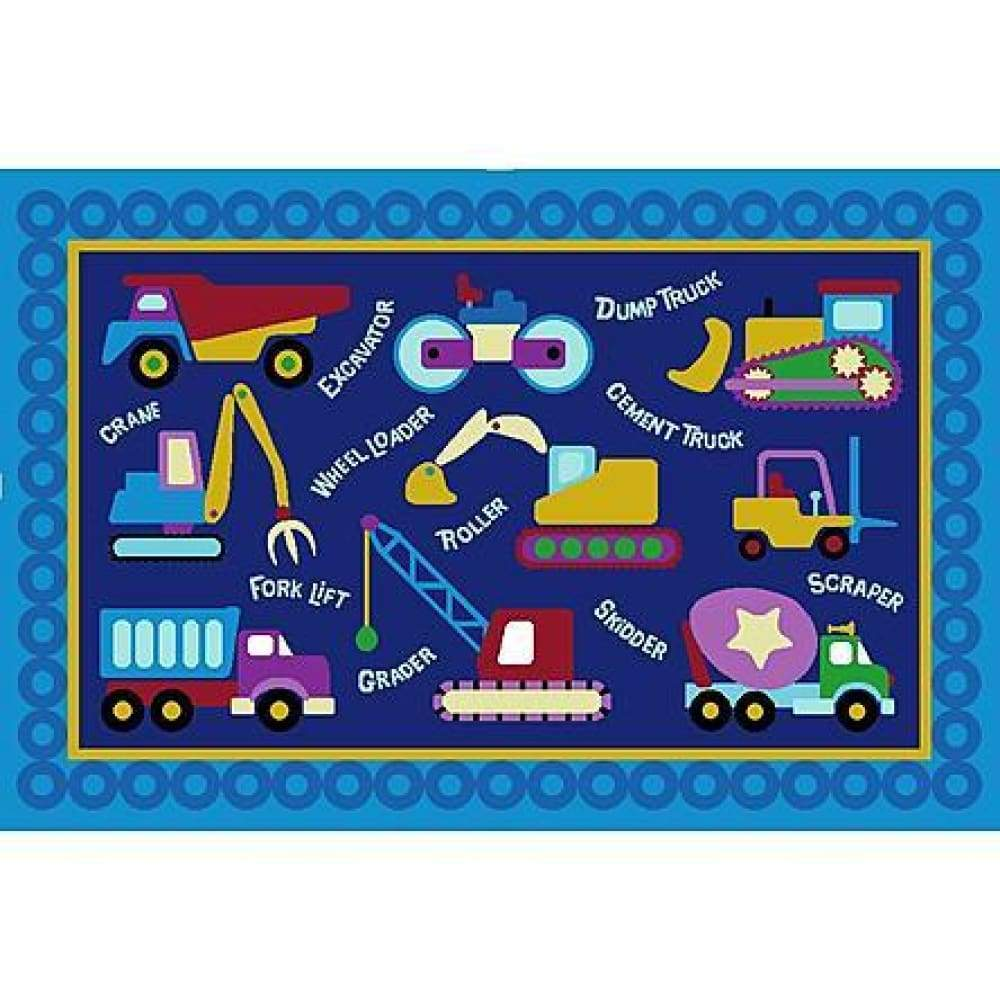 LA Rugs Olive Kids Under Construction 39 x 58 inch Area Rug