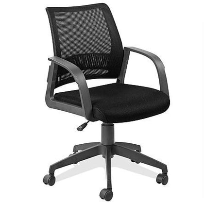 Leick Black Mesh Back Office Chair