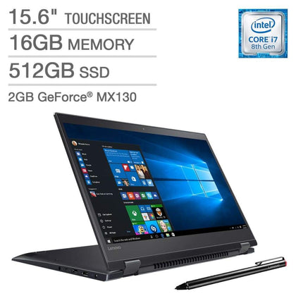 Lenovo Flex 5 15 2-in-1 Touchscreen Laptop - Intel Core i7 - GeForce MX130 - 4K Ultra HD - Active Stylus