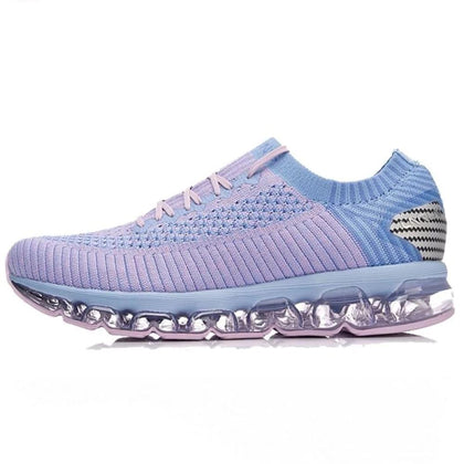 Li-Ning Women Air Cushion Running Shoes Wearable Breathable Sneakers Sock-Like Fitness Sport