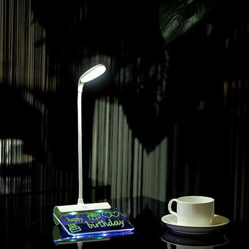 LINSAY SMART LED LAMP TOUCH With Notepad Lighting Green