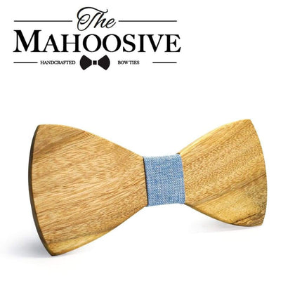 MAHOOSIVE Classic 100% Soild Wooden Mens Ties New Design Neck for Men Formal Business Wedding Party Gravatas
