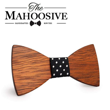Mahoosive Gravata Plaid Wood Wooden Bow Tie For Man Wedding Butterfly Design Necktie for Groom