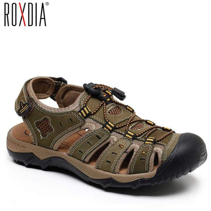 Men Sandal Beach Breathable Sandals Genuine Leather Mens