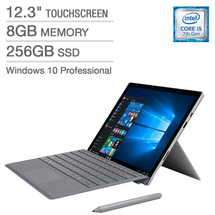 Microsoft Surface Pro (5th Gen) Bundle - Intel Core i5 - 2736 x 1824 Display - Windows 10 Professional - Platinum Type Cover - Surf