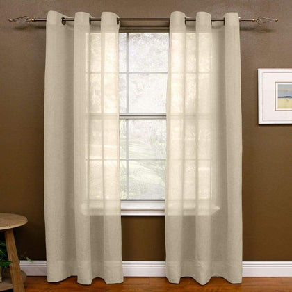 Miller Curtains 1-Panel Preston Window Curtain - Linen / 48X63
