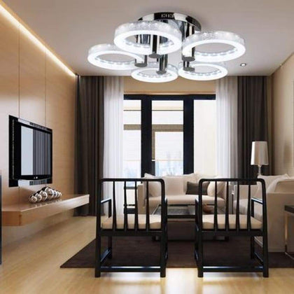 Modern Style Ceiling Lighting LED Acrylic Chandeliers Lamp With 5 Lights
