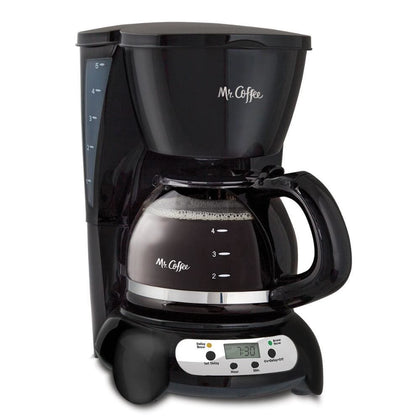 Mr. Coffee Programmable Drip Maker 5 Cup Black Stainless (BVMC-TFX7)