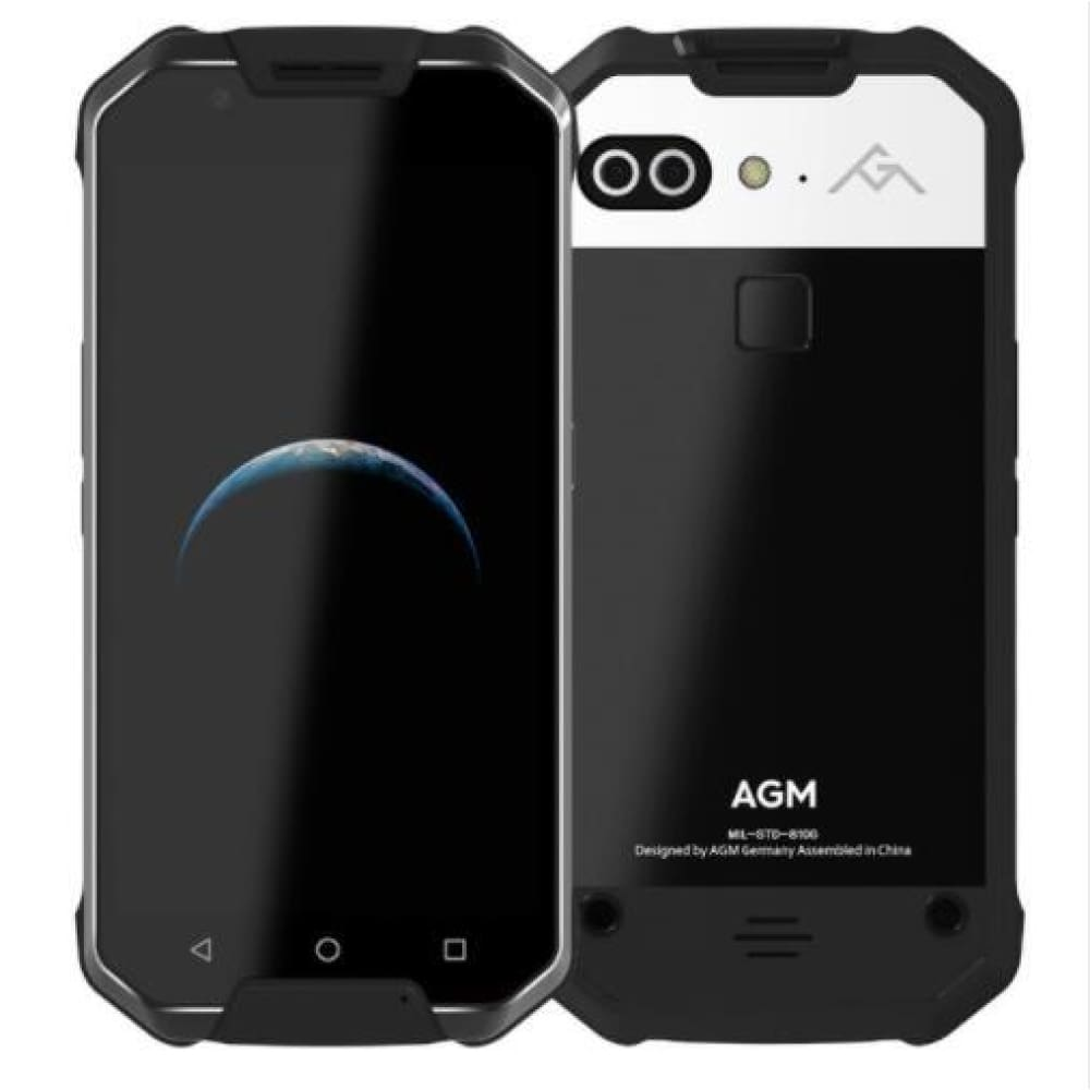 OFFICIAL AGM X2 SE 6G+64G Android 7.1 Mobile Phone 5.5FHD AMOLED Screen IP68 Waterproof 6000mAh Rugged Dual SIM 16.0 MP - Shining Specular