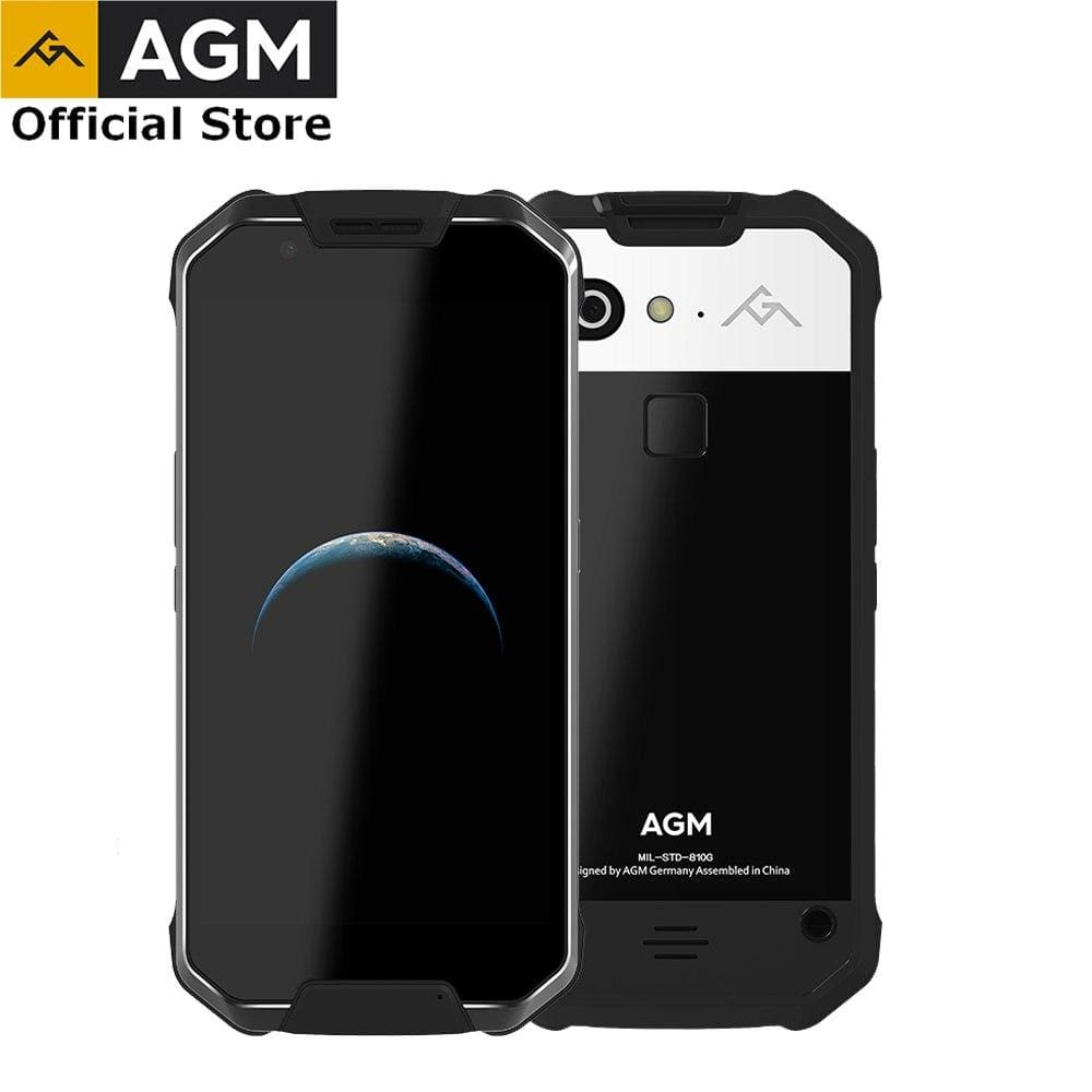 OFFICIAL AGM X2 SE 6G+64G Android 7.1 Mobile Phone 5.5FHD AMOLED Screen IP68 Waterproof 6000mAh Rugged Dual SIM 16.0 MP