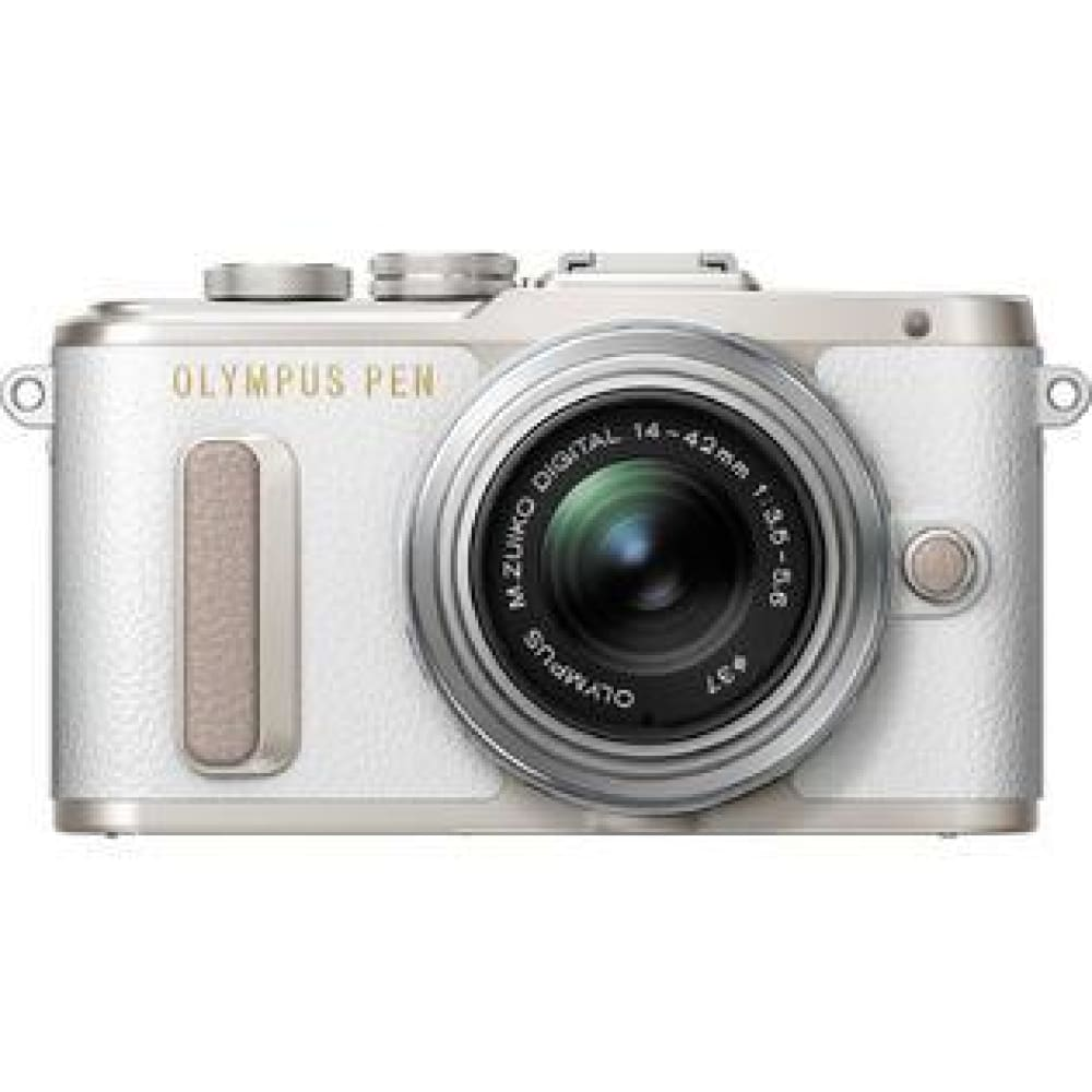 Olympus PENEPL8WHTKIT PEN E-PL8 Kit 16.1 Megapixel Mirrorless Camera with Wi-Fi and 14-42mm f/3.5-5.6 II R Lens - White