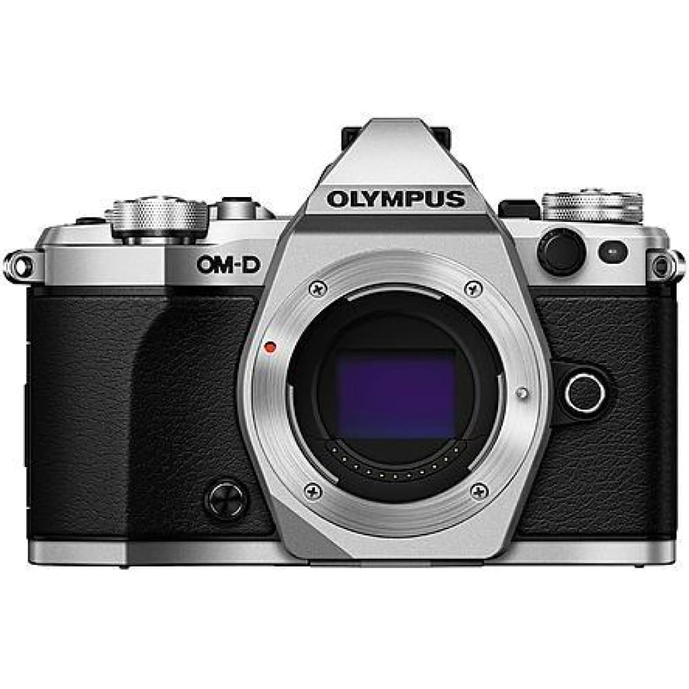 Olympus V207040SU000 16MP OM- E-M5 Mark II TruePic VII Image Processor DSLR Camera Body - Silver