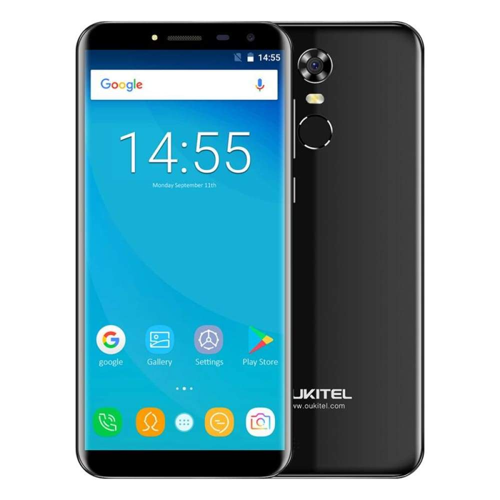 Oukitel C8 5.5 18:9 Infinity Display Android 7.0 MTK6580A Quad Core Smartphone 2G RAM 16G ROM 3000mAh Fingerprint Mobile Phone - Black / Add
