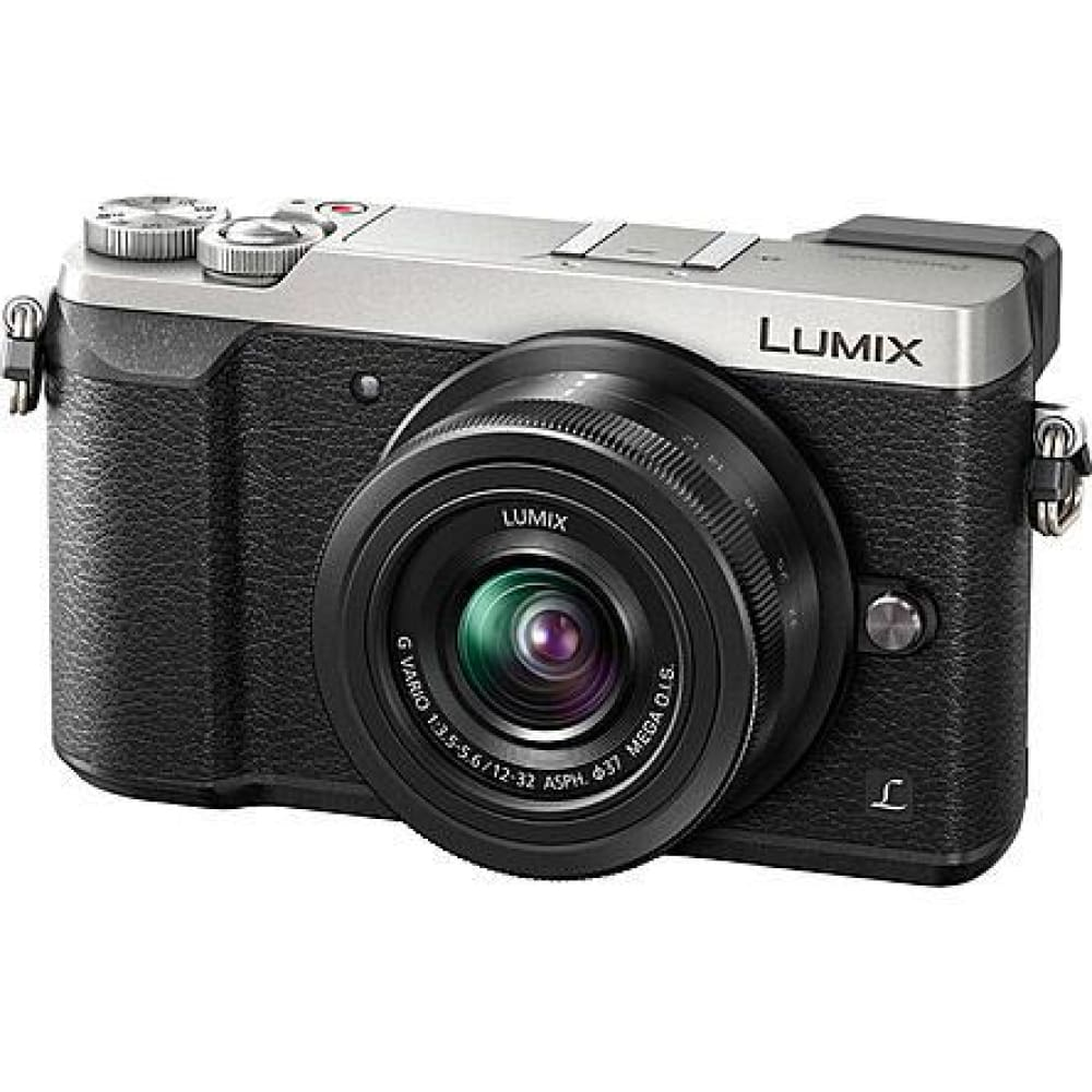 Panasonic DMCGX85KS 16MP LUMIX GV85 4K Micro Four Thirds Camera with Lens - Silver