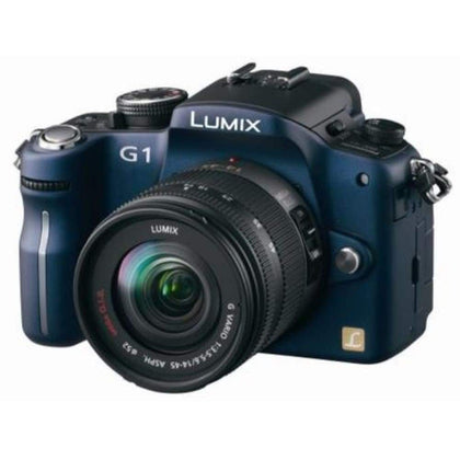 Panasonic Lumix DMC-G1 12.1MP Digital Camera with G Vario 14-45 mm f/3.5-5.6 ASPH Mega OIS Lens Blue
