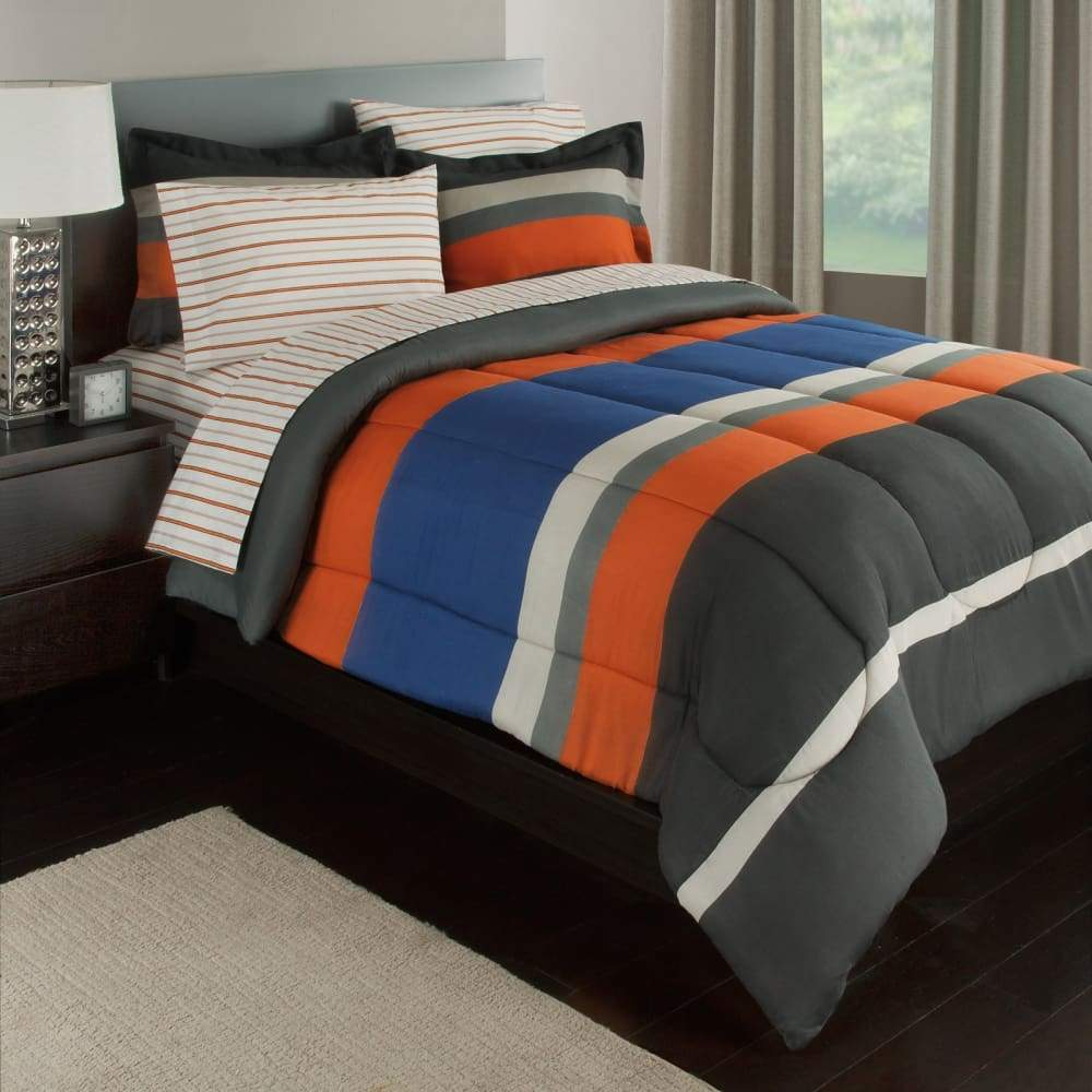 Rugby-in-A-Bag Bedding Set Stripe Reversible Pacem