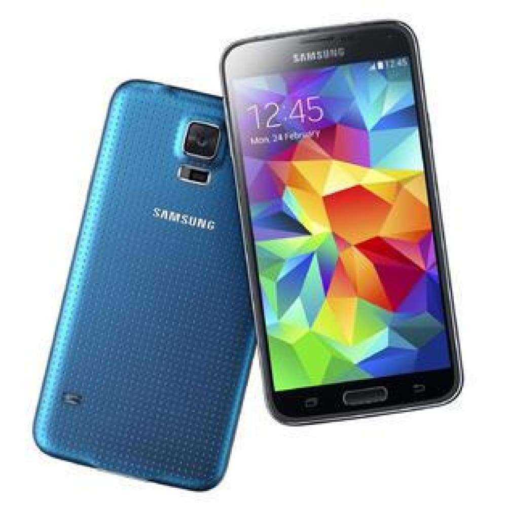 Samsung Galaxy Unlocked S5 G900V/P 16GB 16MP 5.1inch Touch Screen Smartphone Mobile Phone Cell 4 Colors US Standard Adapte - Blue