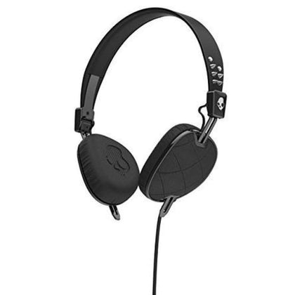 Skullcandy S5AVGM-400 Knockout Womens On-Ear Headphones with Mic and Remote Geo Quilted Black/Chrome