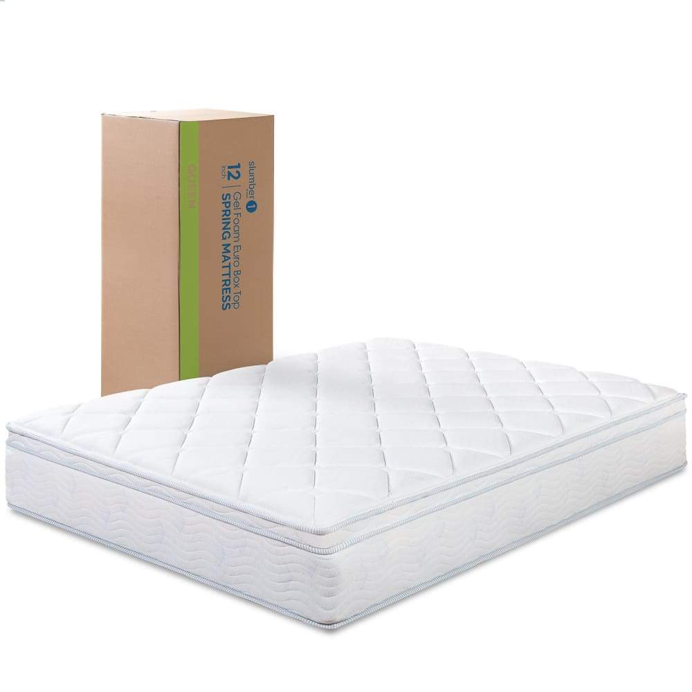 Slumber 1 by Zinus 12 Spring Support Mattress with Green Tea Foam Comfort Layer