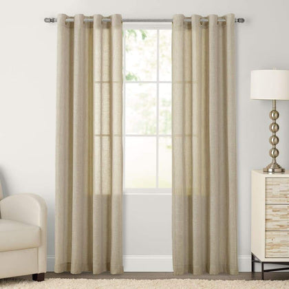 SONOMA Goods for Life 2-pack Ayden Sheer Window Curtain - Linen / 52X84