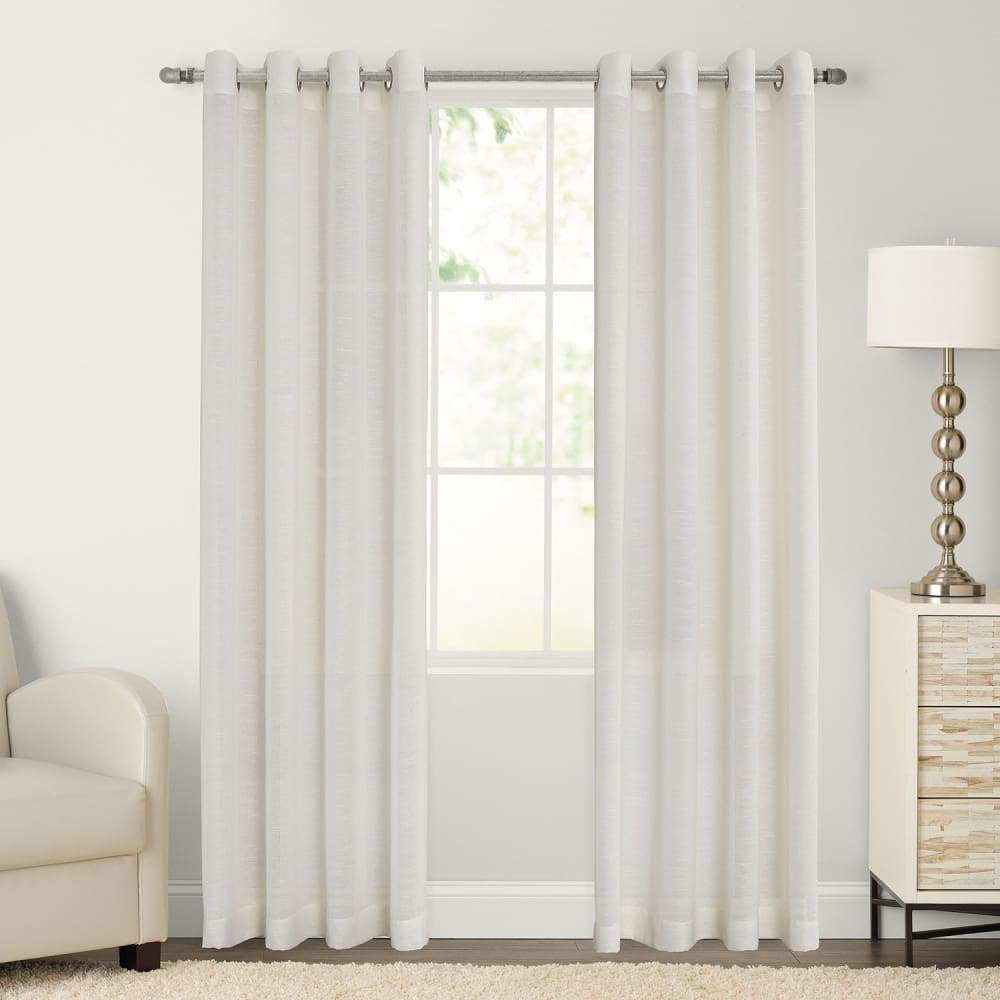 SONOMA Goods for Life 2-pack Ayden Sheer Window Curtain - Ivory / 52X84