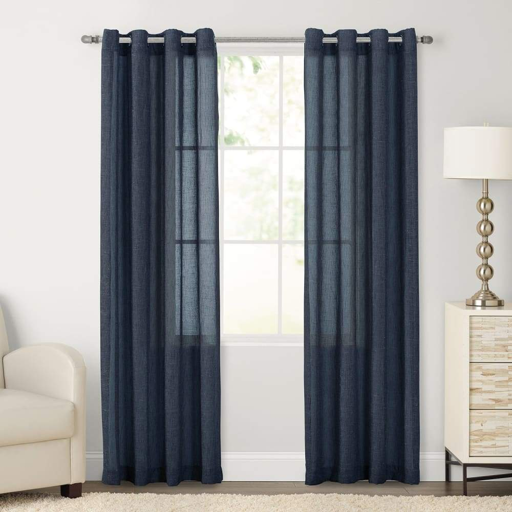 SONOMA Goods for Life 2-pack Ayden Sheer Window Curtain - Indigo / 52X84