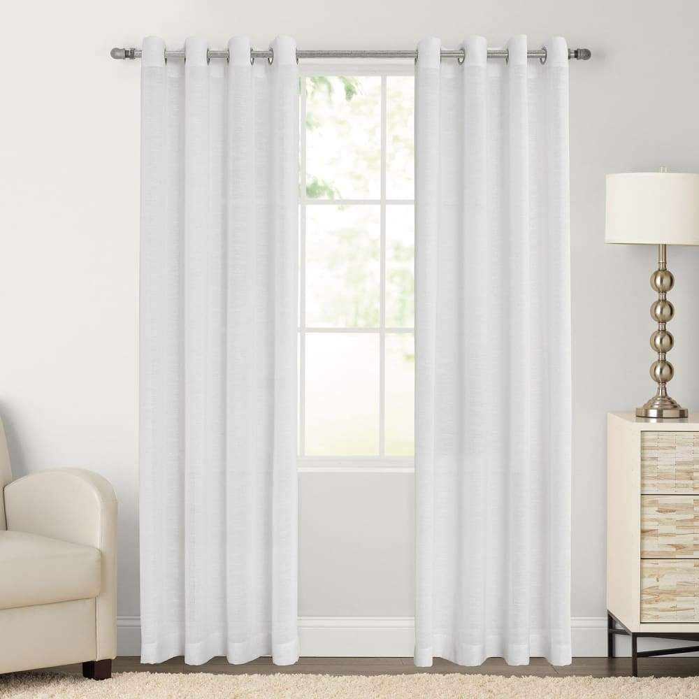 SONOMA Goods for Life 2-pack Ayden Sheer Window Curtain - White / 52X84