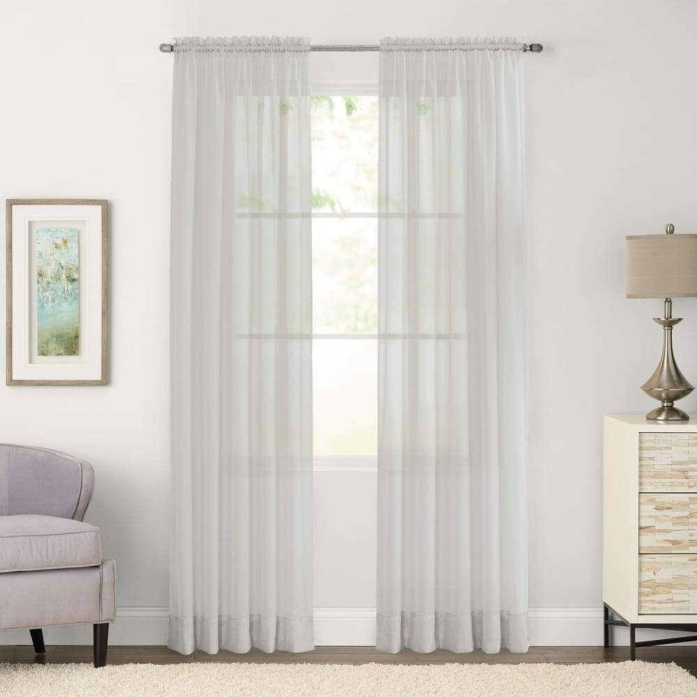 SONOMA Goods for Life 2-pack Sheer Voile Window Curtains - Gray / 59X63