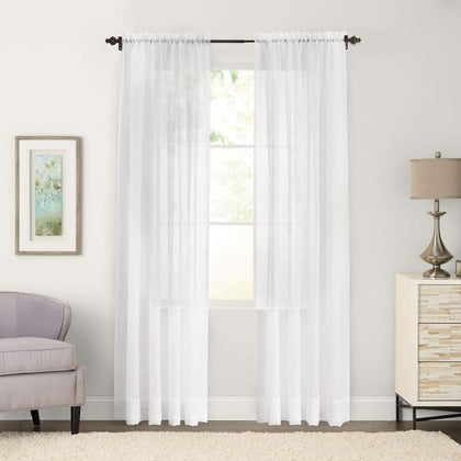 SONOMA Goods for Life 2-pack Sheer Voile Window Curtains - White / 59X63