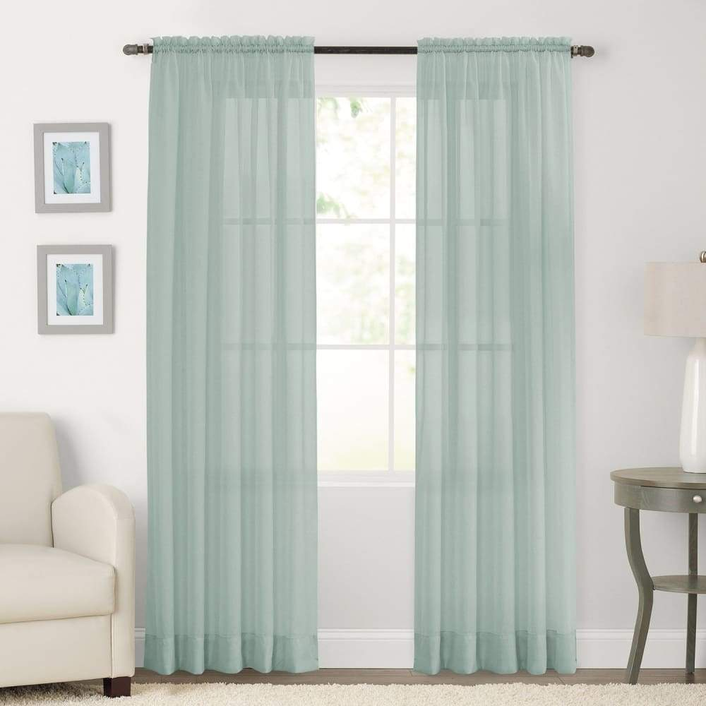 SONOMA Goods for Life 2-pack Sheer Voile Window Curtains - Aqua / 59X63