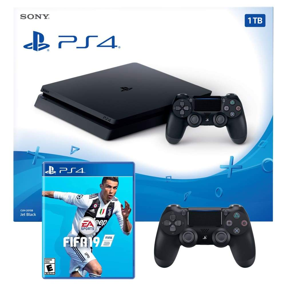 Sony PS4 Slim 1TB with FIFA 19 Video Game & DualShock 4 ControllerSony Controller