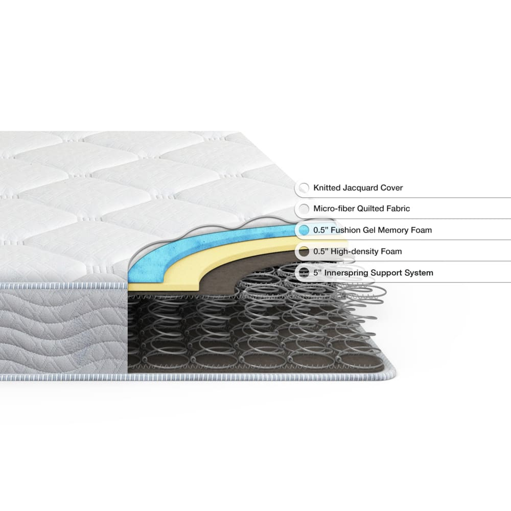 Spa Sensations by Zinus 6 Spring and Gel Memory Foam Mattress