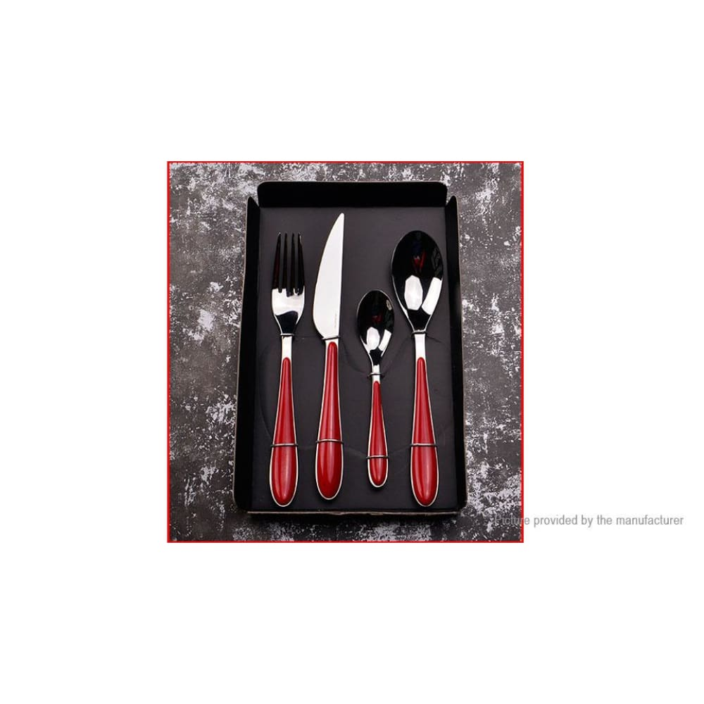 Stainless Steel Fork Spoon Teaspoon Knife Cutlery Dinnerware Set