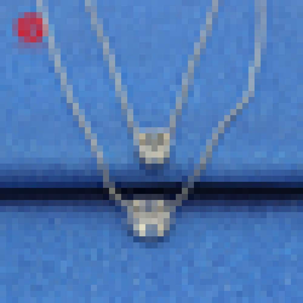 Sterling Sliver Material Double Layered Chain AAA CZ Diamond Necklace