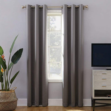 Sun Zero Extreme 2-Pack Norway Theater Grade Blackout Window Curtain - Gray / 40X63
