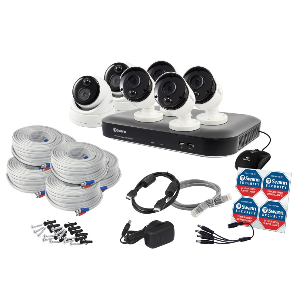 Swann 8-Channel 4K DVR 4 Bullet and 2 Dome Cameras Security SystemSwann System