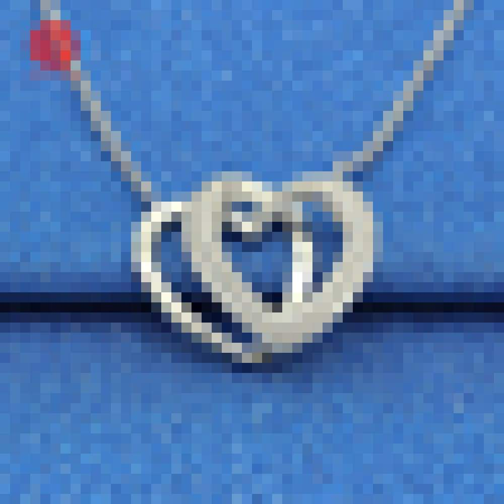 True Love Choice Cross Heart Pladium Plating Sliver Couple Necklace