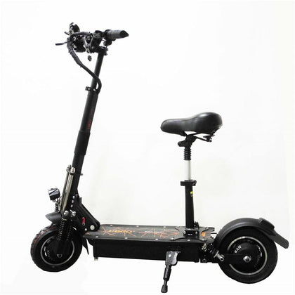 UBGO 1005 52V Double Drive Motor Powerful Electric Scooter 10inch E-Scooter With Oil Brake