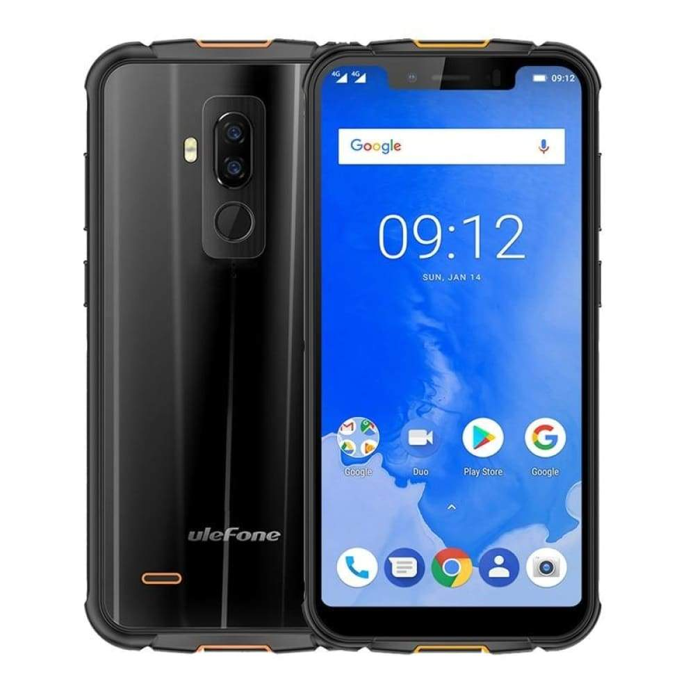 Ulefone Armor 5 IP68 Waterproof Mobile Phone Android 8.1 5.85 HD+ Octa Core 4GB+64GB NFC Face ID Wireless Charge 4G Smartphone - Black /