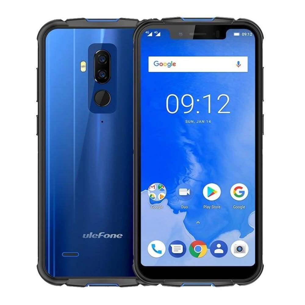 Ulefone Armor 5 IP68 Waterproof Mobile Phone Android 8.1 5.85 HD+ Octa Core 4GB+64GB NFC Face ID Wireless Charge 4G Smartphone - Blue / Free